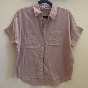 """Madewell """"Central Shirt"""" in mauve flannel"""